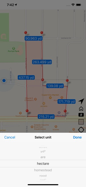 Area & Distance - Map Measure on the App Store