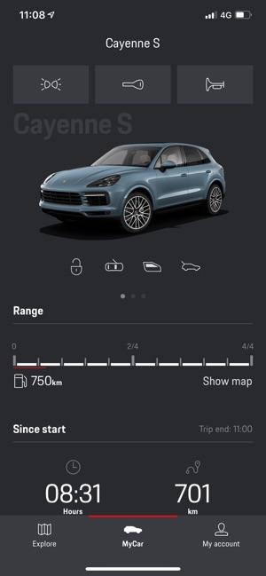 Porsche Connect App on the App Store
