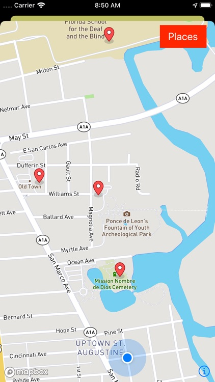 St. Augustine Ghost Map