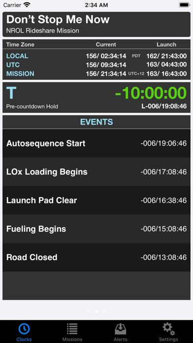 Missionclock review screenshots