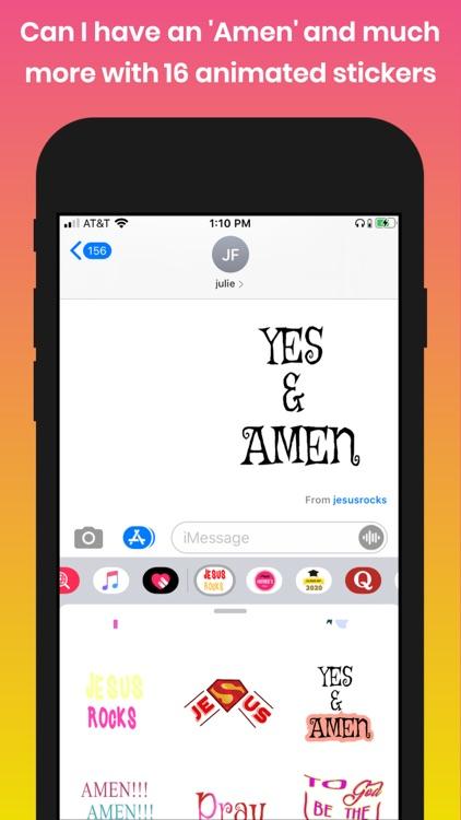 Jesus Rocks Animated Stickers