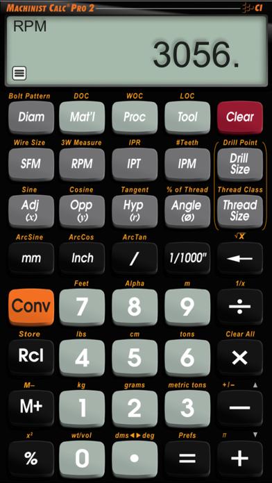 Machinist Calc Pro 2 screenshot one