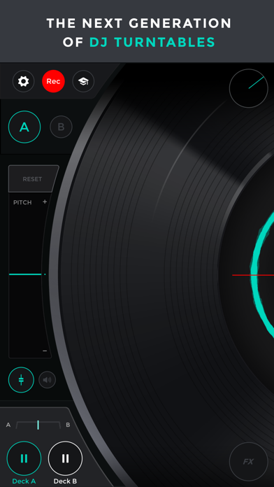 Mixfader dj app Screenshot