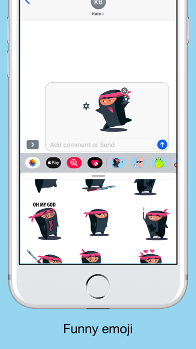Ninja emoji - Attack stickers screenshot 3