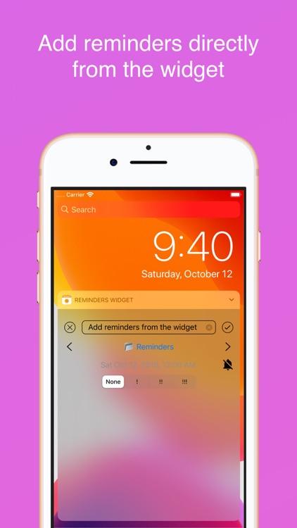 Reminders Widget screenshot-4