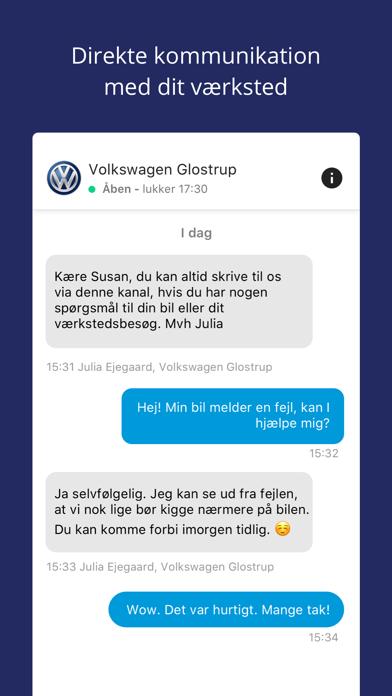 Screenshot for MinVolkswagen in Denmark App Store