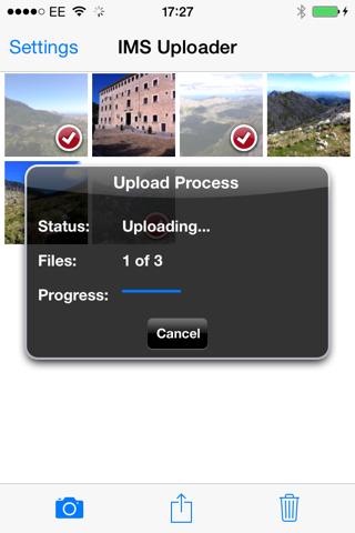 IMS Uploader - náhled
