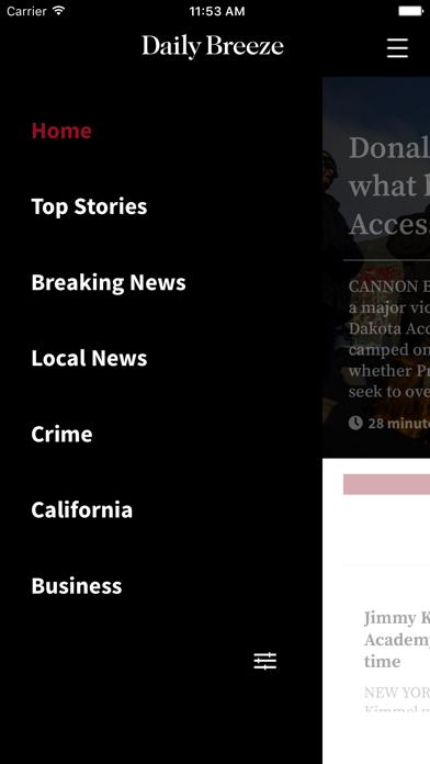 Daily Breeze Screenshot on iOS