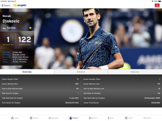 Screenshot #6 pour US Open Tennis Championships