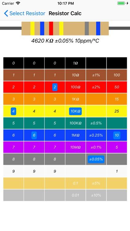 Resistor color code calc screenshot-4