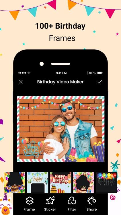 Birthday Movies Maker Song screenshot-5