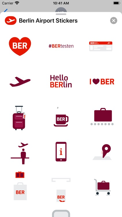 Berlin Airport Stickers