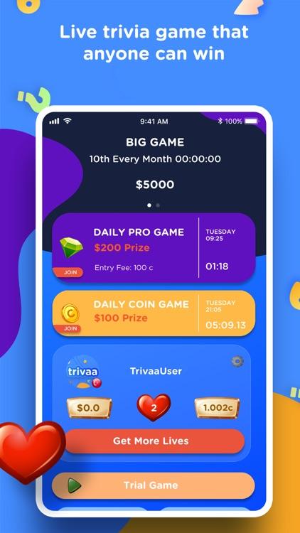 Trivaa - Real Trivia Game screenshot-0