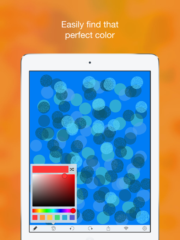 iPaint uPaint: wireless finger-painting with a friend! screenshot