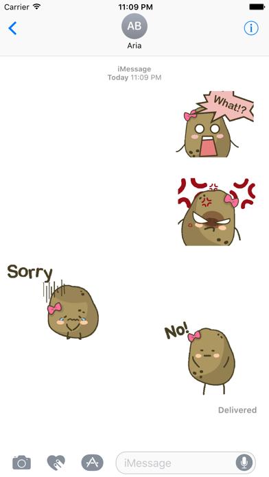 Animated Lovely Ms Potato screenshot 1