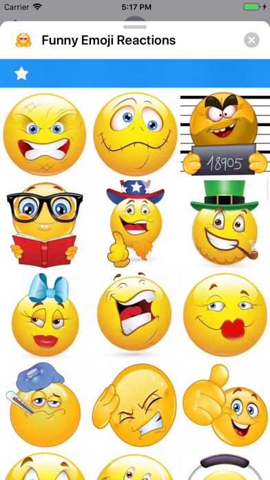 Screenshot for Funny Emoji Reactions in Australia App Store