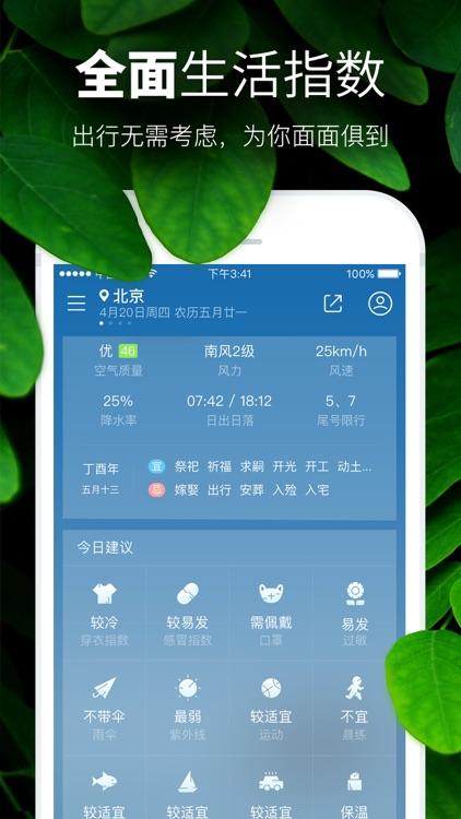 天气预报-PM2.5空气质量和污染指数报告 screenshot-4