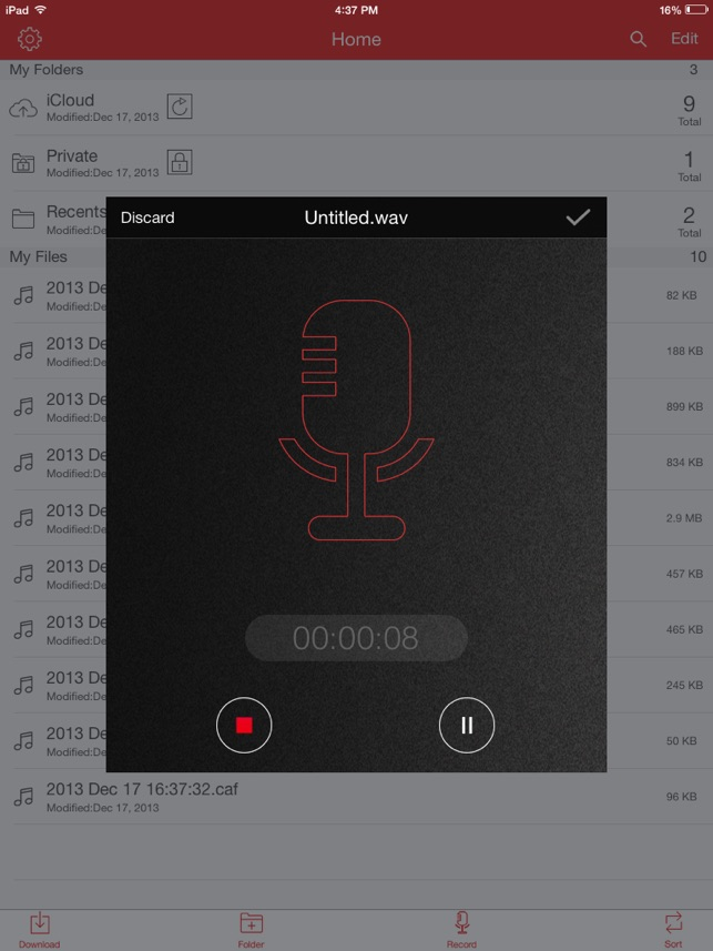 Recorder Pro: Audio Manager Screenshot