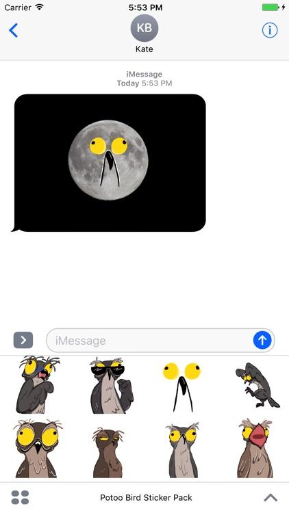 Potoo Bird Sticker Pack screenshot-4