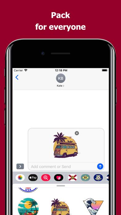 Florida emojis - USA stickers screenshot 4