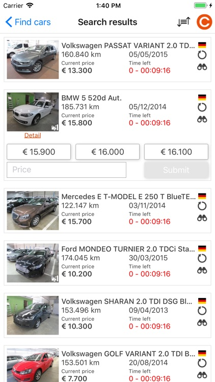 Car Auction Apps >> Carsontheweb Com By European Car Auction And Distribution Solutions