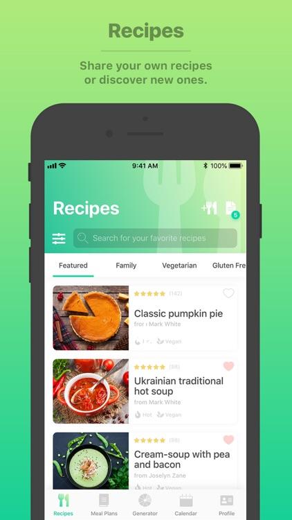 Burst Menu - Meal Planner screenshot-4
