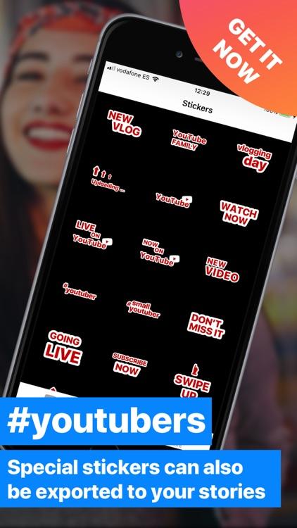 YT Sticker for Insta Stories screenshot-4