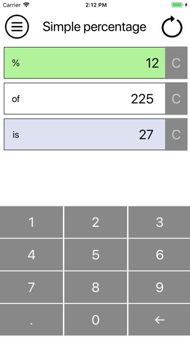 Simple percentage screenshot three