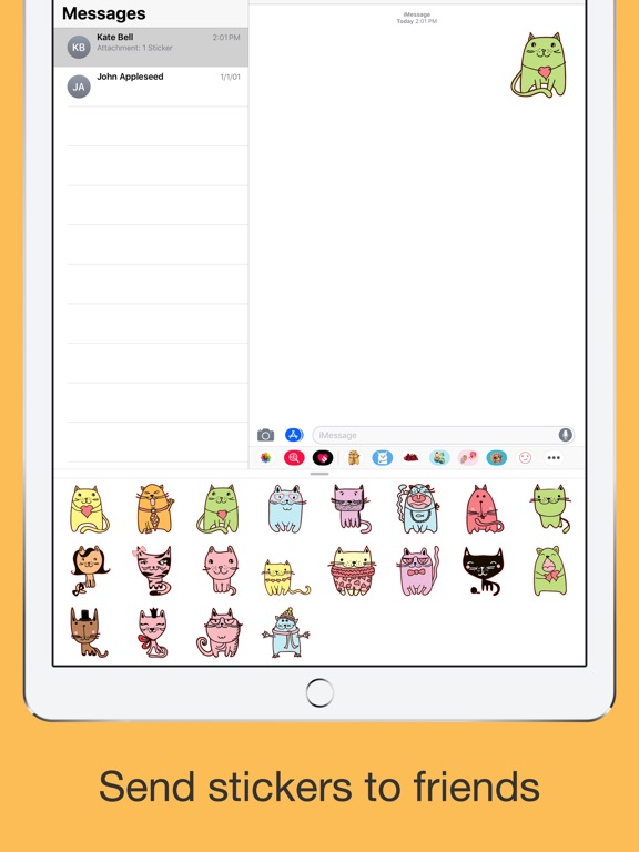 Cute cats - hand drawn emoji screenshot 9