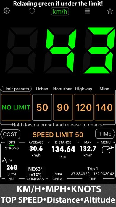 Speedometer 55 Start. GPS Box. screenshot one