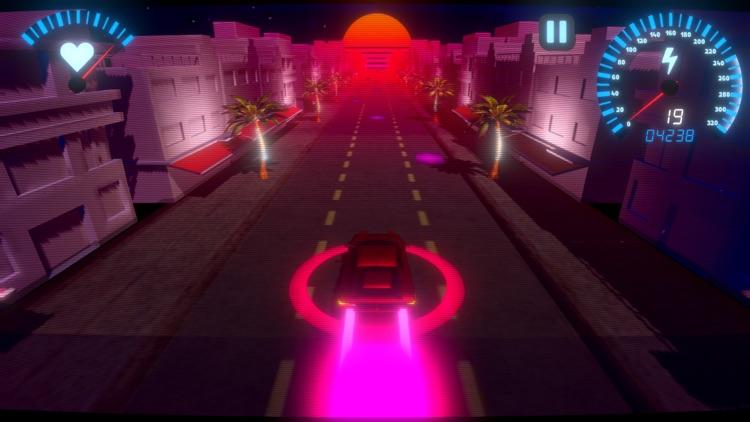 OverDrive - Synthwave Racer screenshot-3