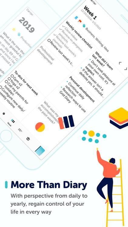 Grid Diary - Journal, Planner screenshot-3