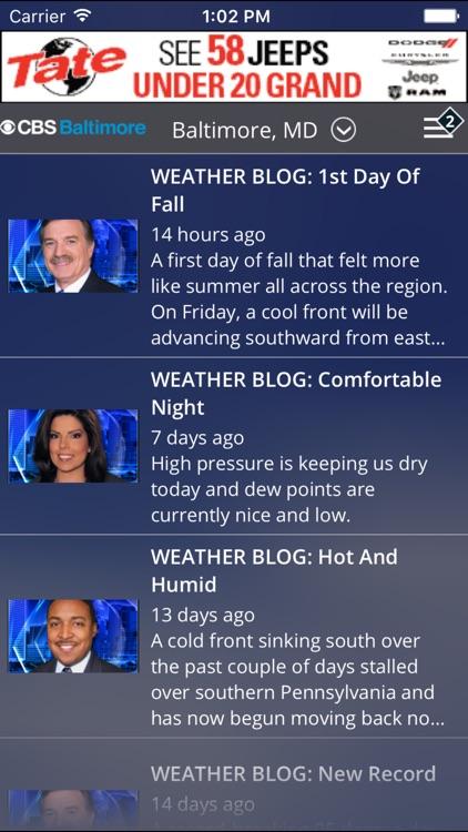 CBS Baltimore Weather screenshot-4