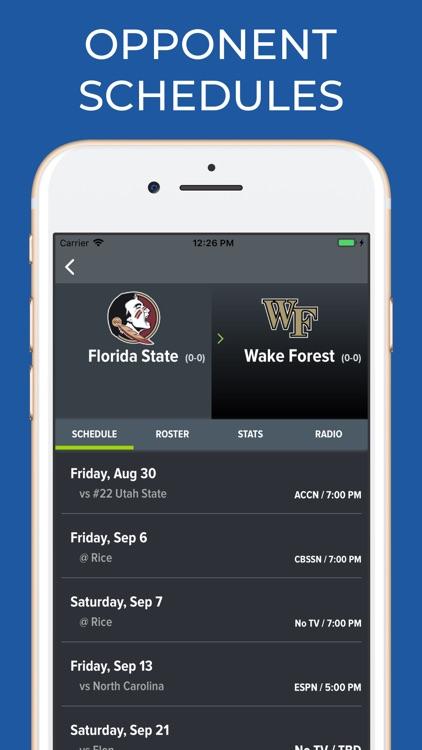 FSU Football Schedules screenshot-6