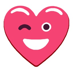 Heart Pink Love Emoji Stickers