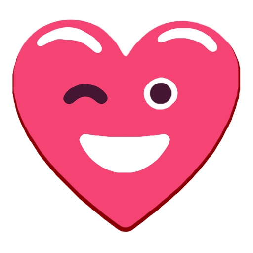 Heart Pink Love Emoji Stickers