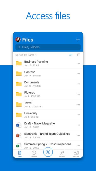 Microsoft Onedrive review screenshots