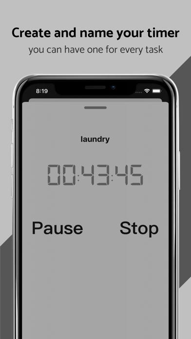 Screenshot of TimerStack App