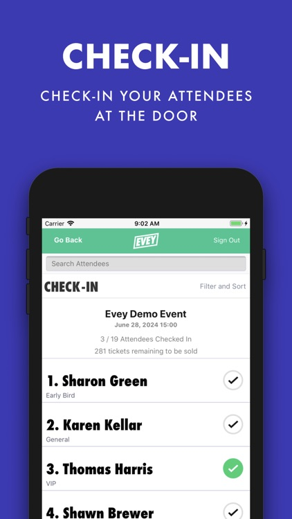 Evey Events - Check-In Manager