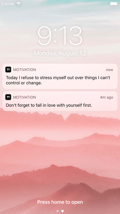 Motivation - Daily quotes Screenshot