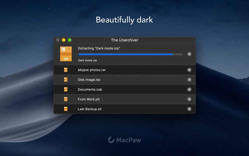 The Unarchiver Screenshot