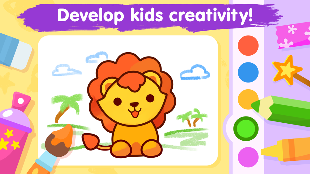 Colouring Games For Kids 3-5 Free Download App For IPhone - STEPrimo.com