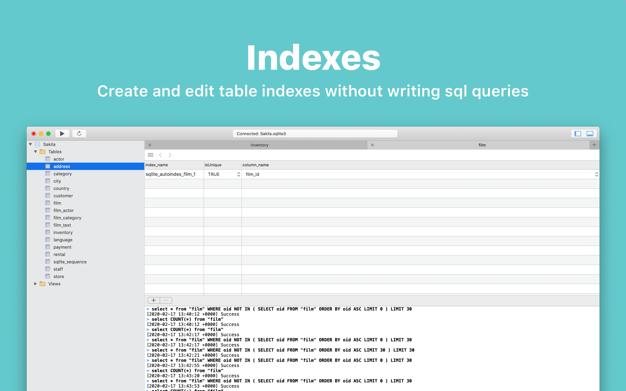 dbHarbor: SQLite app screenshot