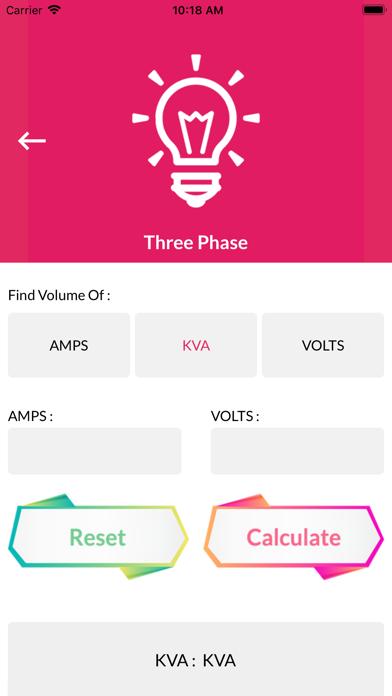 Calc for KVA screenshot 4