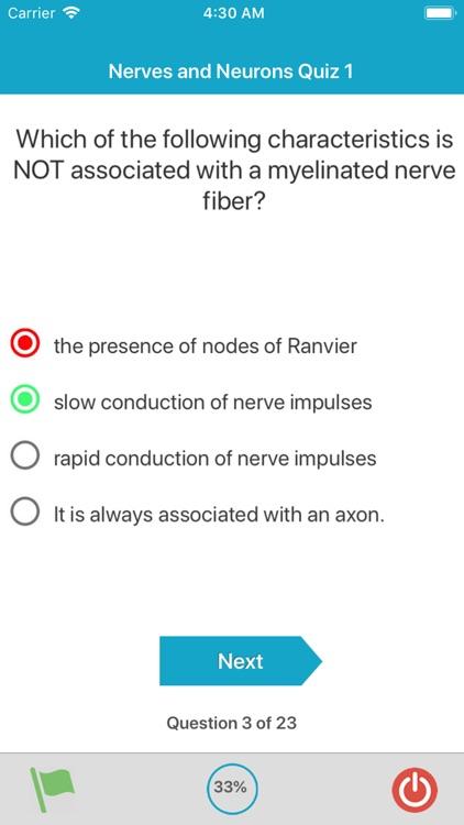 Nervous System Quizzes