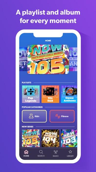 NOW Music App screenshot three