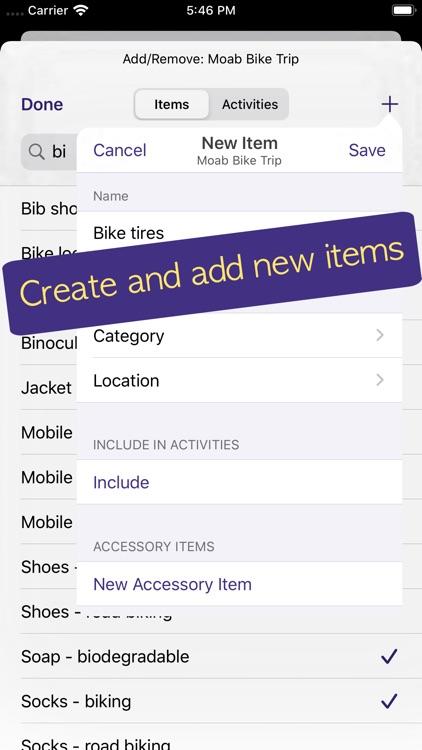 PackCheck Packing List screenshot-4