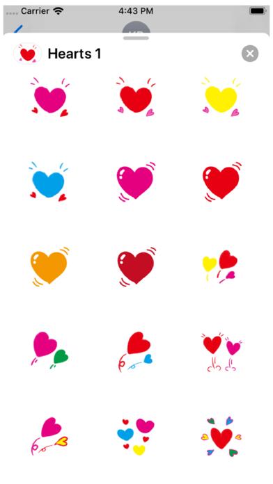 Hearts 1 Stickers Screenshot