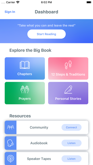 Screenshot for AA Big Book (Unofficial) in United States App Store