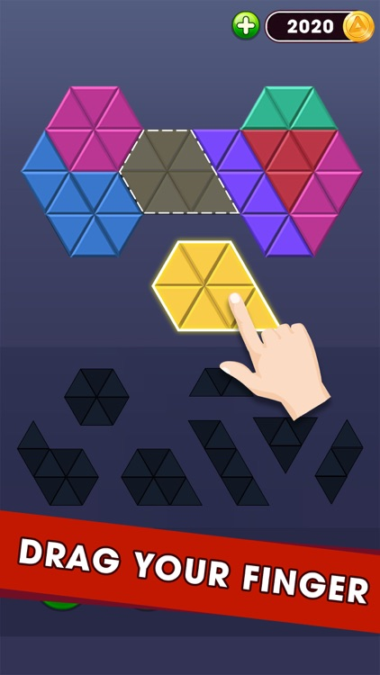 Triangle Puzzle - Block Hexa